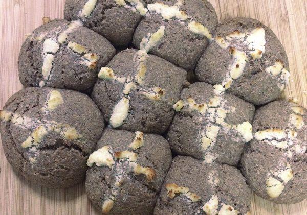 Hot cross buns LCHF thermomix, sugar free, grain free, gluten free, keto, LCHF, banting low carb friendly