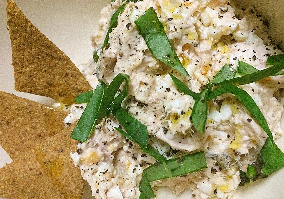 lchf tuna egg dip, perfect for banting keto lifestyle