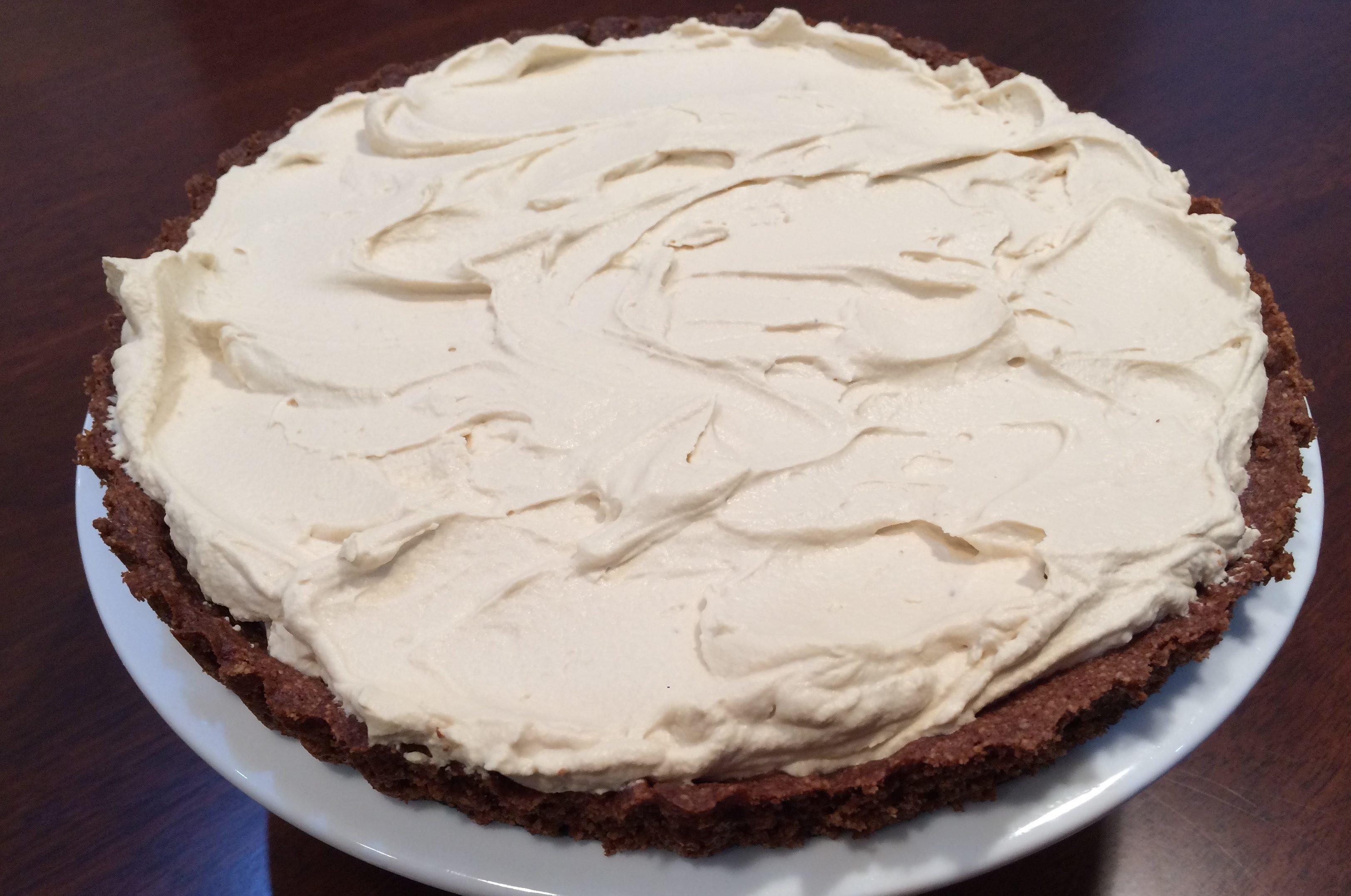 chocolate hazelnut espresso mascarpone tart