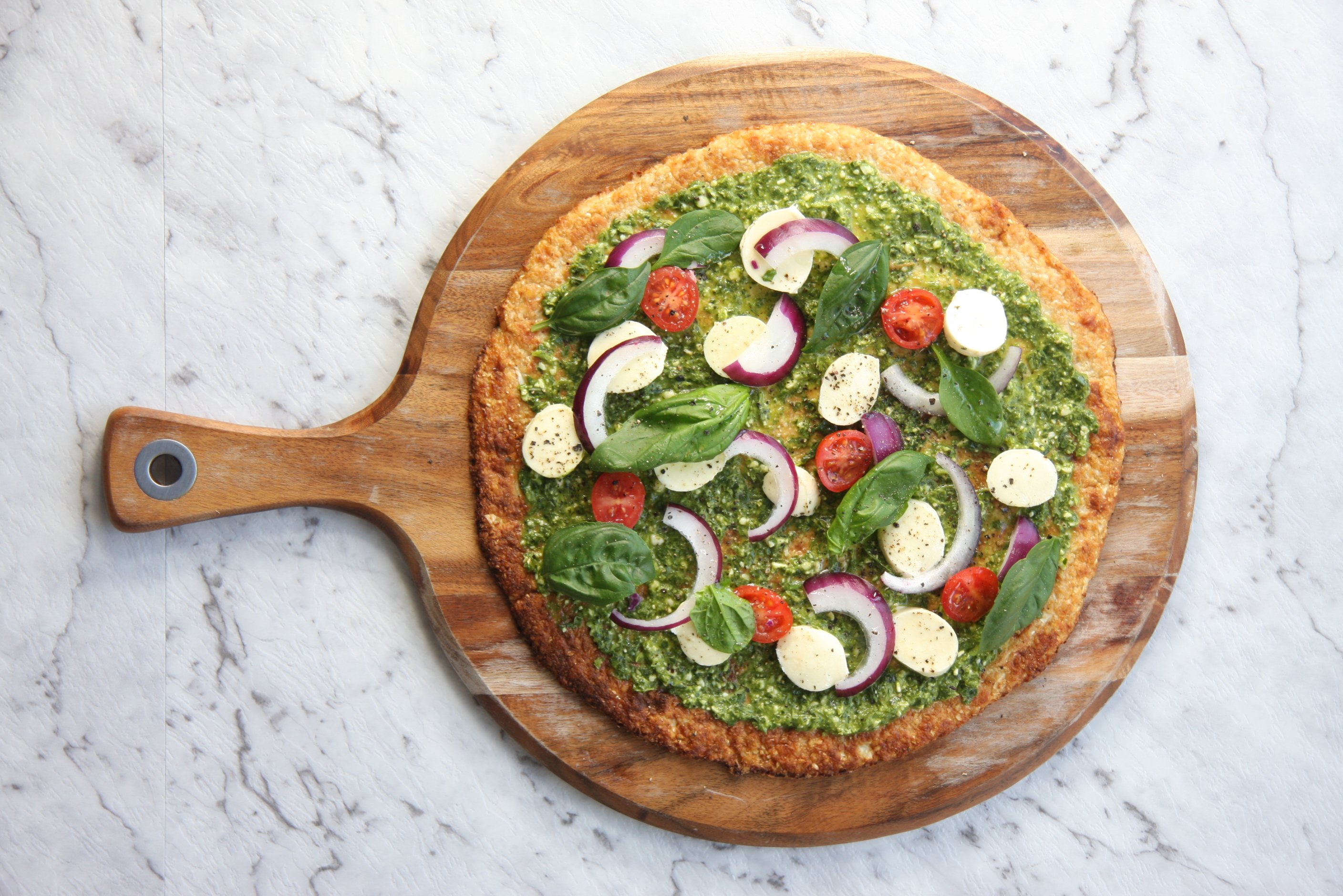 cauliflower pizza thermomix lchf